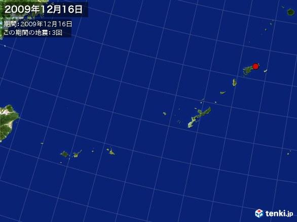 沖縄・震央分布図(2009年12月16日)