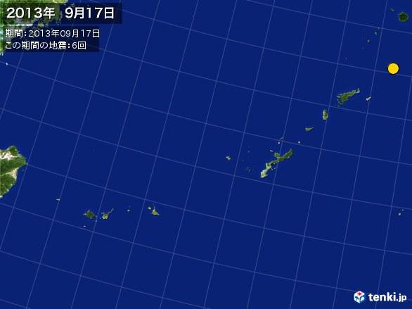 沖縄・震央分布図(2013年09月17日)