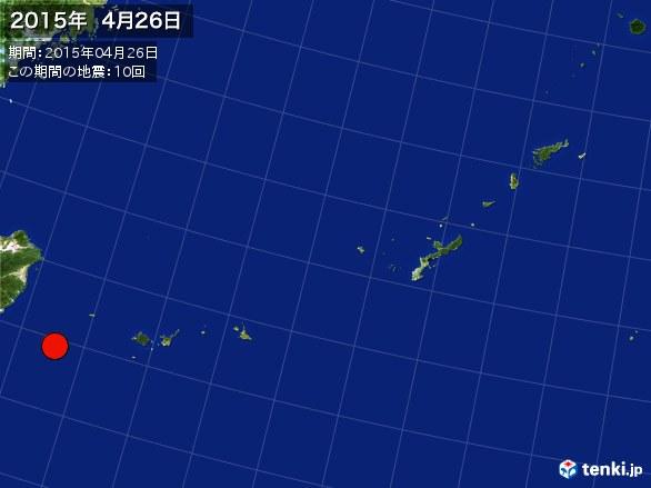 沖縄・震央分布図(2015年04月26日)