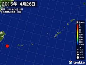 2015年04月26日の震央分布図