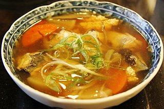 道南の郷土料理「ごっこ汁」。コラーゲンたっぷり。でも魚体の見た目にビックリ!